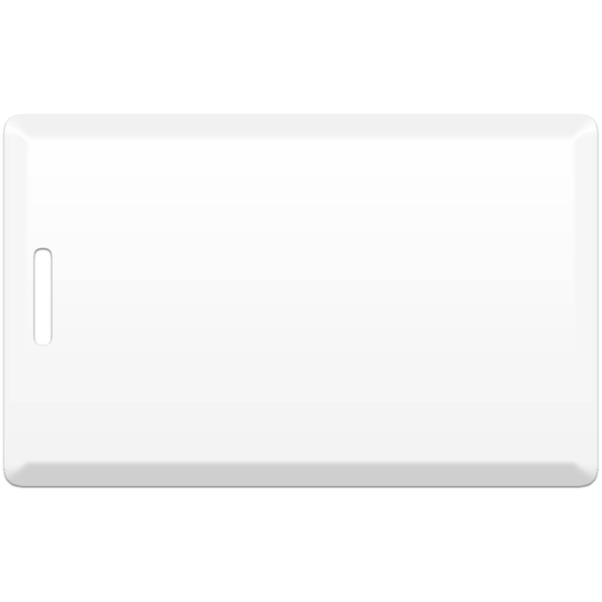 Бесконтактная пластиковая карта с чипом Atmel (Temic) T5557, T5577 Clamshell (толстая), перезаписываемая RFID-карта с прорезью