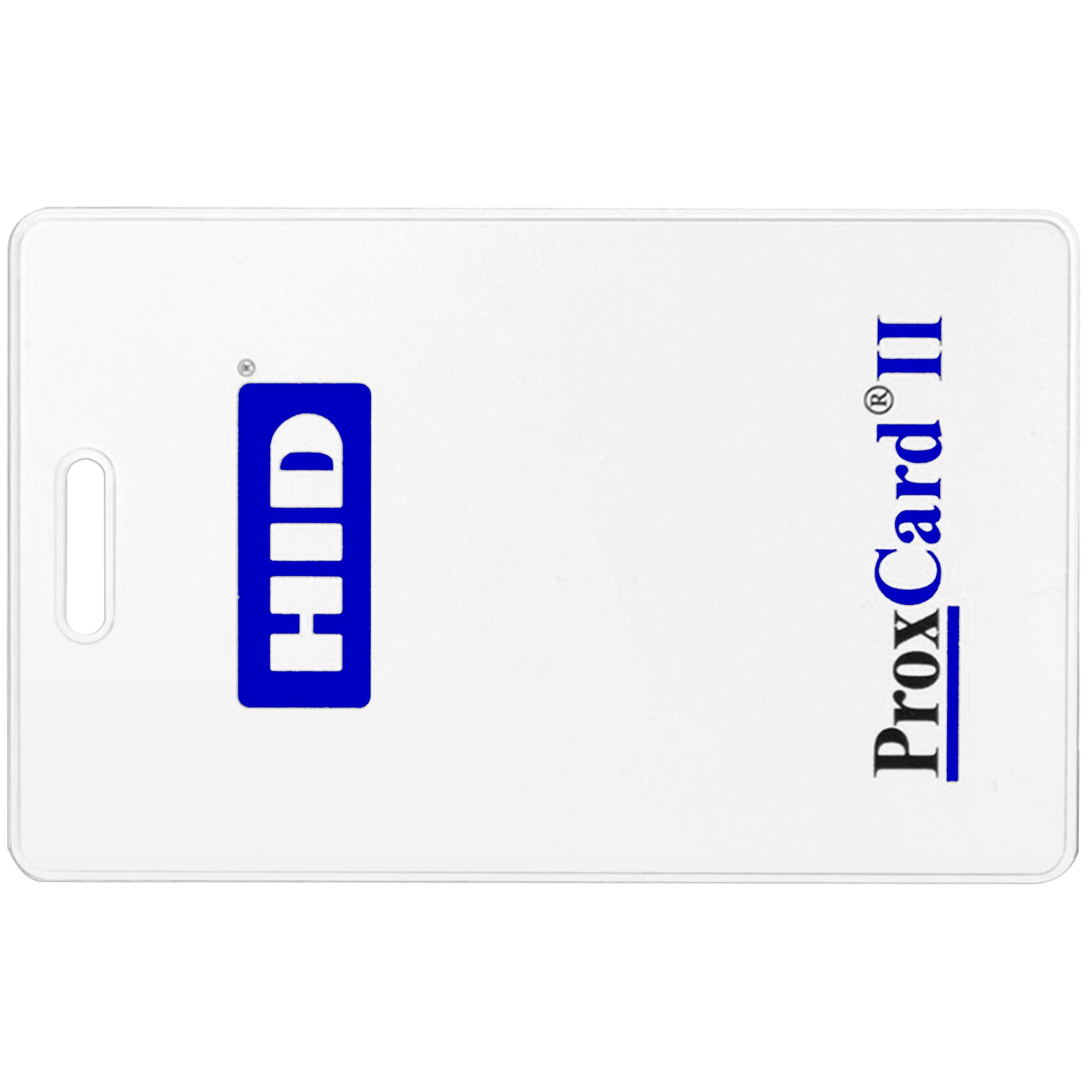 Бесконтактная пластиковая карта с чипом HID ProxCard 2 Clamshell (толстая), RFID-карта с прорезью