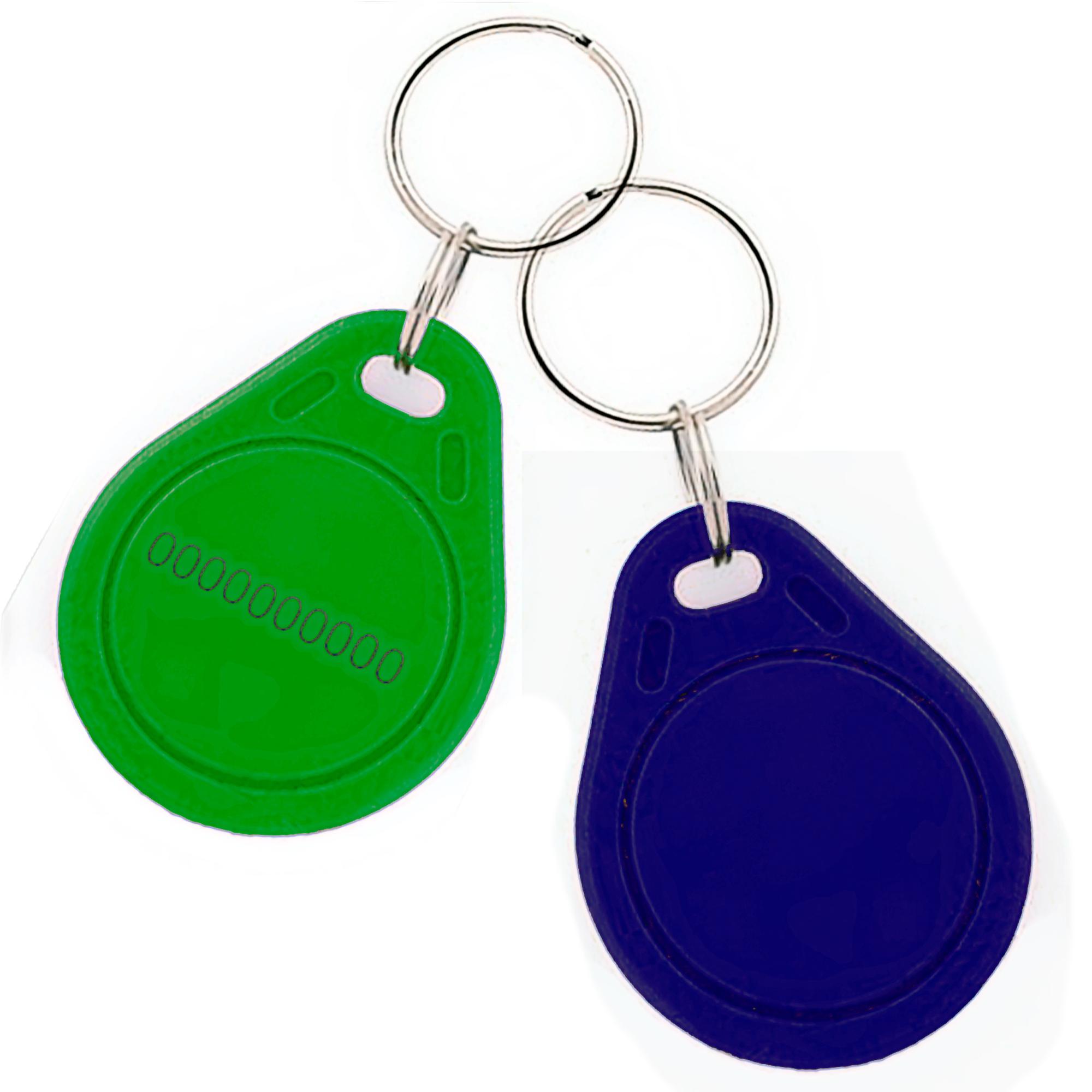 Бесконтактный плоский (под нанесение) RFID-брелок с чипом Atmel (Temic) T5557, T5577 с железным кольцом