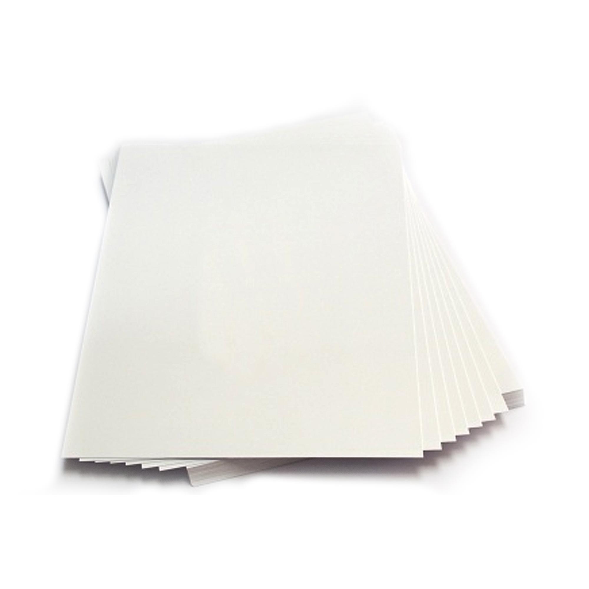 Листовой ПВХ белый для струйной печати (0,3 мм) формата А4