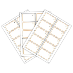 Сировина для виробництва rfid-карт Mifare 4K (10 чіпів на аркуші формату A4)