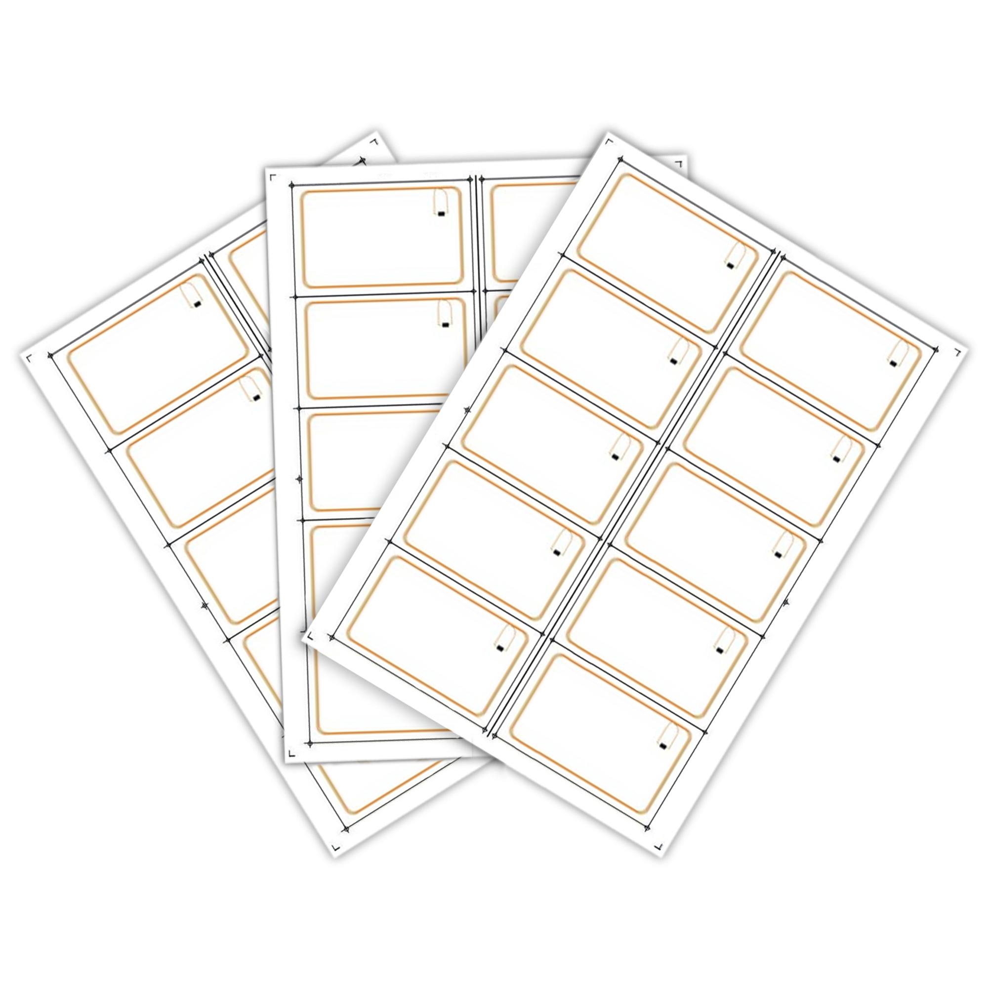 Mifare Ultralight C сырье (инлей) для производства бесконтактных пластиковых rfid-карт с чипом (10 чипов на листе формата A4)