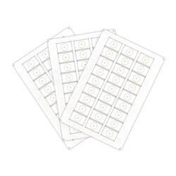 Сировина, інлей для виробництва RFID-брелоків Mifare Plus S2K (24 чіпів на аркуші формату A4)