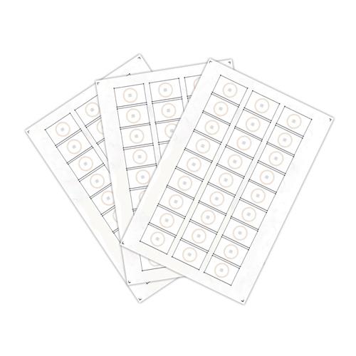 Сырье, инлеи для производства rfid-брелоков Mifare Plus S2K (24 чипов на листе формата A4)