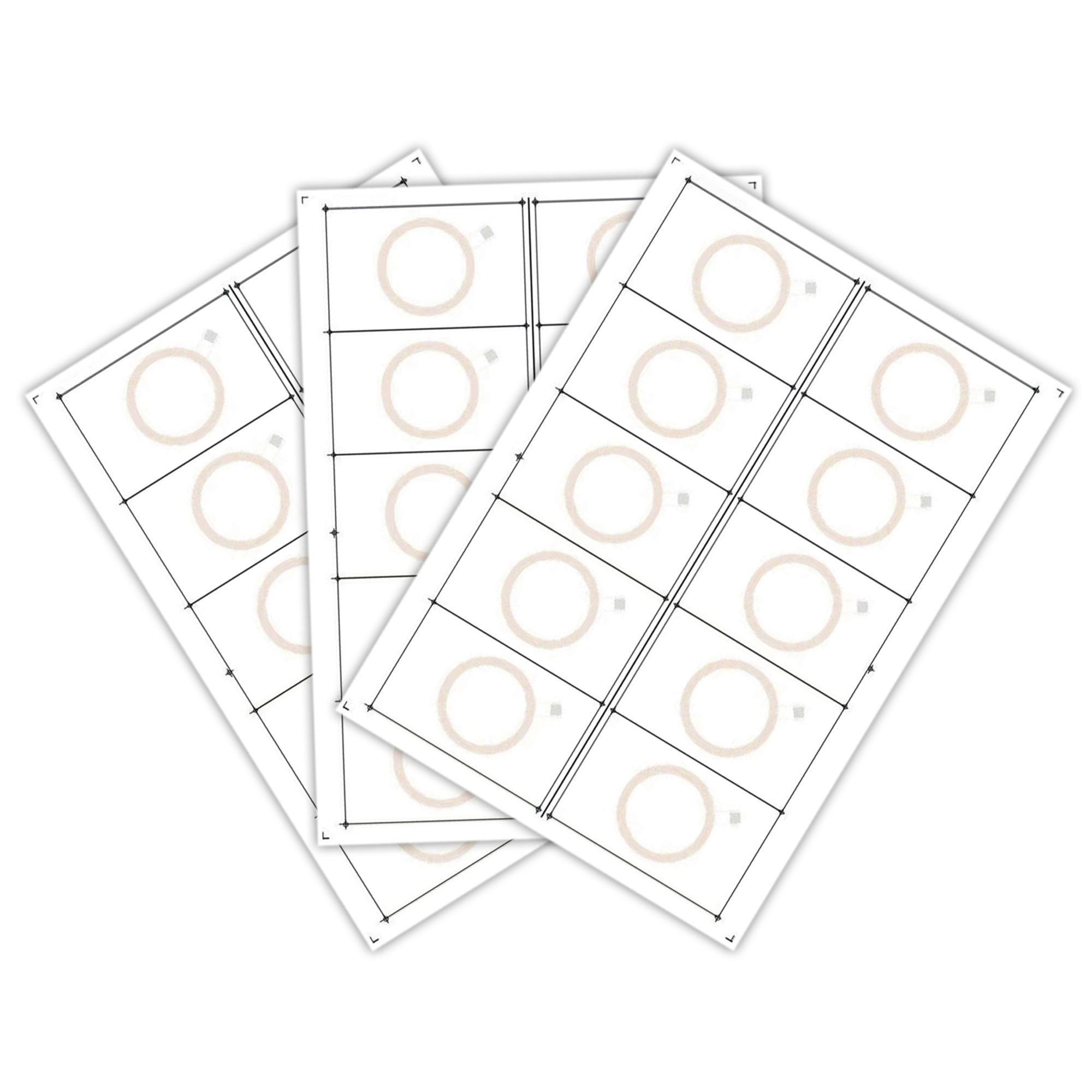 Сырье для производства бесконтактных пластиковых RFID-карт с чипом Atmel (Temic) T5557, T5577 (10 чипов на листе формата A4)