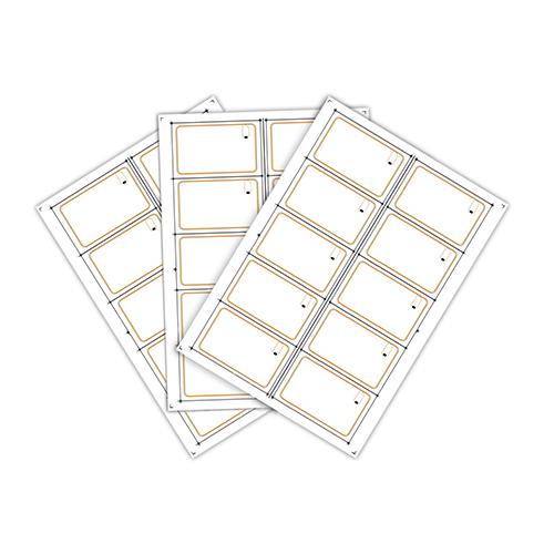 Сырье (инлей) для производства RFID-карт Fudan 1K (10 чипов на листе формата A4)
