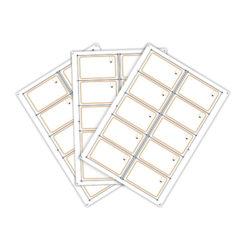 Сырье, инлей для производства rfid-карт Keri Systems KC-10X (10 чипов на листе формата A4)
