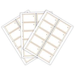 Сырье для производства бесконтактных пластиковых RFID-карт с чипом Mifare 1K (10 чипов на листе формата A4)