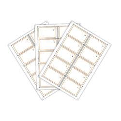 Сырье (инлей) для производства RFID-карт Mifare DESFire EV2 8К (10 чипов на листе формата A4)