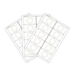 Сировина (інлей) для виробництва RFID-карт Mifare 1K (10 чіпів на аркуші формату A4) (UID 7 байт)