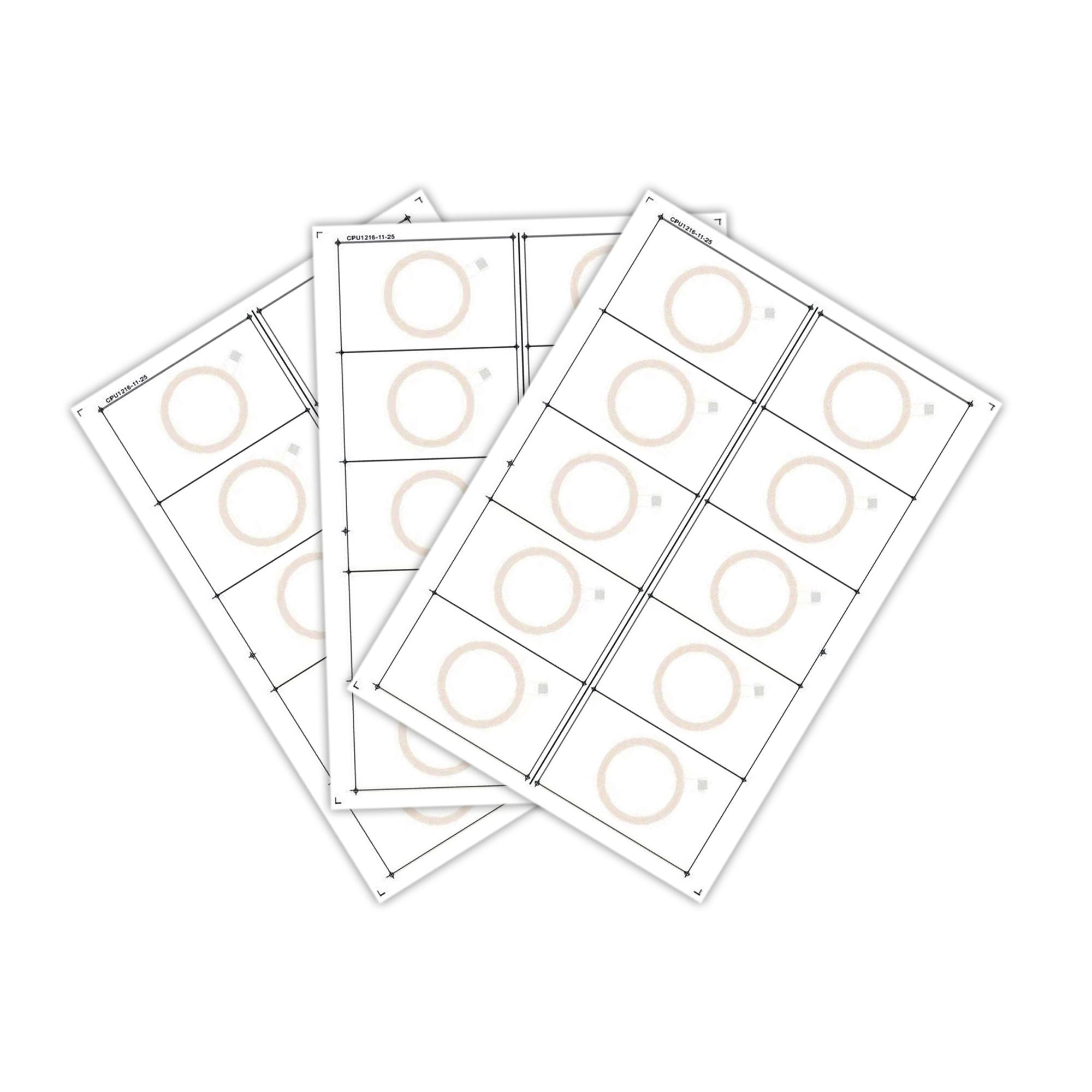Сировина, інлей для виробництва rfid-карт з чіпом UHF ALIEN H3 (10 чіпів на аркуші формату A4)