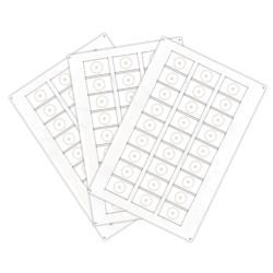 Сырье для производства бесконтактных пластиковых RFID-брелоков с чипом Atmel (Temic) T5557, T5577 (27 чипов на листе формата A4)