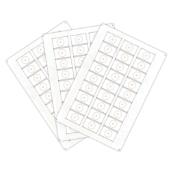 Сырье (инлей) для производства RFID-брелоков Mifare 1K (24 чипов на листе формата A4)