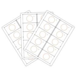 Сировина, інлей для виробництва rfid-карт Em-Marine (10 чіпів на аркуші формату A4)