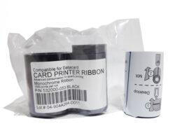 Черная монохромная лента совместимая с принтером Datacard 532000-053