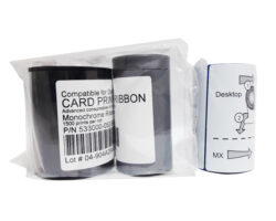 Черная монохромная лента совместимая с принтером Datacard 533000-053