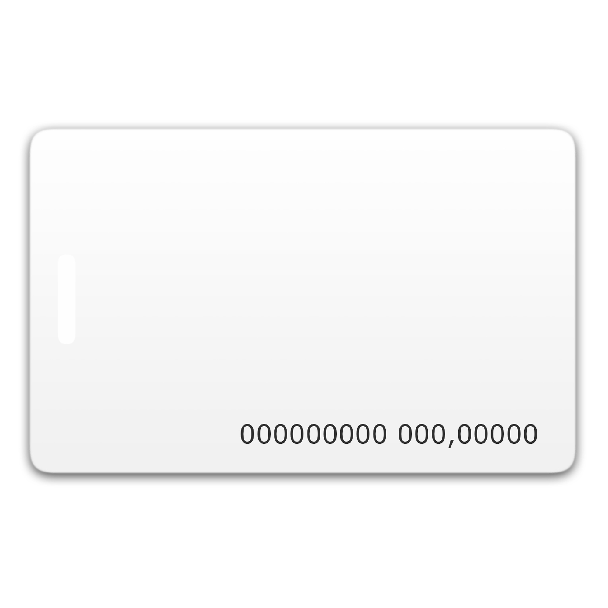 Chip-UA | Бесконтактная пластиковая RFID-карта с номером с чипом Mifare 4K