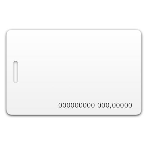 Chip-UA | Бесконтактная пластиковая RFID-карта с номером с прорезью с чипом Em-Marine