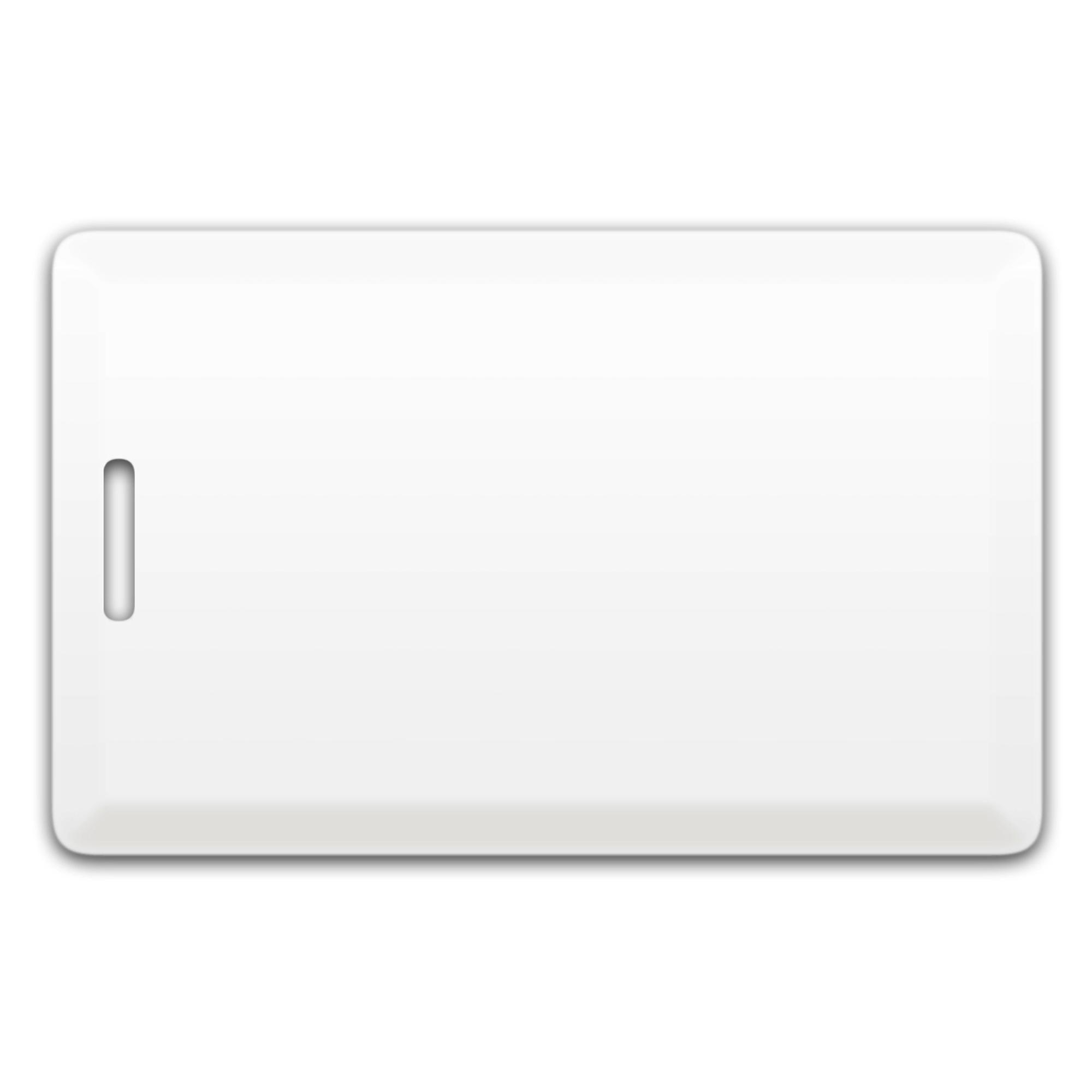 Chip-UA | Бесконтактная пластиковая карта (толстая) с прорезью с чипом Em-Marine Clamshell