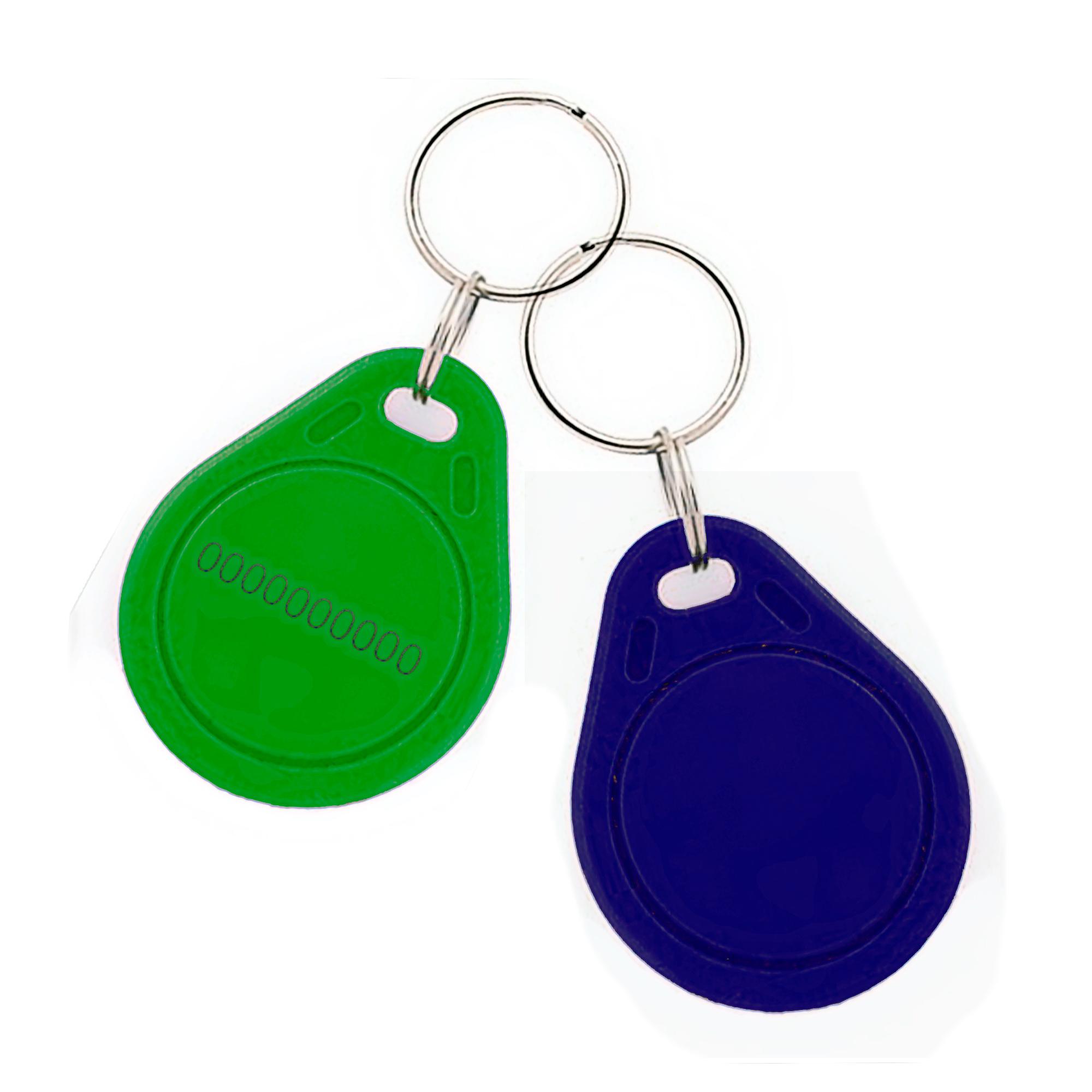 Chip-UA | Бесконтактный плоский RFID-брелок с железным кольцом с чипом Atmel (Temic)