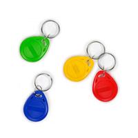 Chip-UA | Синий, зеленый, красный и желтый бесконтактные RFID-брелоки с железным кольцом с чипом Mifare 1K