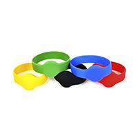 Chip-UA | Черный, красный, синий, зеленый и желтый бесконтактные водонепроницаемые цельносиликоновые RFID–браслеты с чипом Mifare 1K