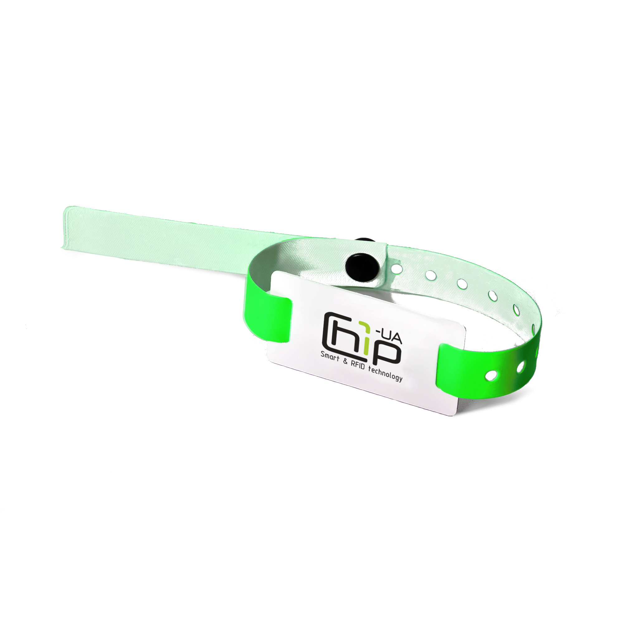 Chip-UA | Синий бесконтактный RFID–браслет с полноцветной печатью на силиконовом ремешке с застежкой с чипом Atmel (Temic) T5557, T5577